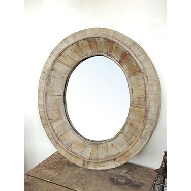 Espejo en madera ovalado sandra marcos interiorismo for Espejo ovalado madera